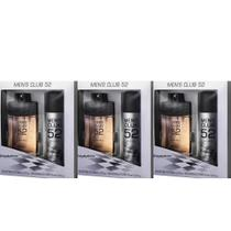 Mens Club Original Estojo Colônia 100ml + Desodorante Spray 90ml (Kit C/03)