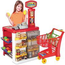 Mercadinho Infantil Super Market Com Luz Som Acessórios + Carrinho Magic Toys -