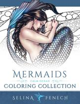 Mermaids - Calm Ocean Coloring Collection - Fairies And Fantasy Pty Ltd
