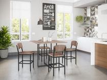 Mesa 4 Cadeiras Quadrada Teka - Móveis Brastubo