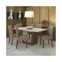 Mesa Apogeu vdo 1,80 Off White com 6 Cadeiras Apogeu - Lopas -