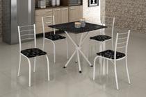 Mesa com 4 Cadeiras para Cozinha Ipanema Teixeira Branca -