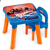 Mesa com Cadeira Hot Wheels - Fun Divirta-Se