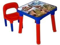 Mesa com Cadeira Infantil Dinossauros - Monte Líbano 1 Lugar