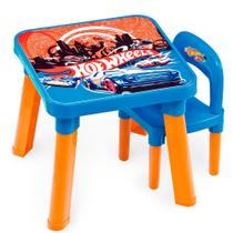 Mesa com cadeira infantil hot wheels - fun