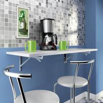Mesa Cozinha Dobrável de Parede Escrivaninha 45x60Cm Preto - Primolar