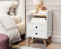 Mesa de Cabeceira Dream - Branco Lojas CasaNova - Mania De Móveis