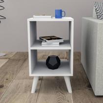 Mesa de cabeceira em MDF branco TX 15mm - Móveis Alice