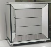 Mesa de cabeceira espelhado ELEGANCE - DesignerDecor