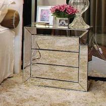 Mesa de Cabeceira espelhado LOFT BISOTE - DesignerDecor