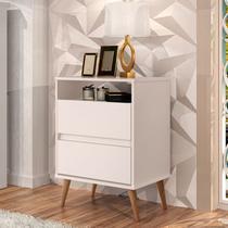 Mesa de Cabeceira Lotus 2 Gavetas Várias Cores - J.A Móveis -