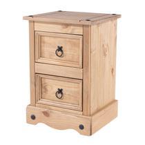 Mesa de Cabeceira - Madeira - Cor Antique - CR509 - Pense Dentro da Caixa