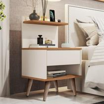 Mesa de Cabeceira Retrô Sleep com 1 Gaveta e Pés Palito - Compre Aqui