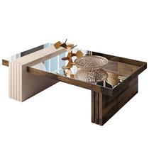 Mesa de Centro com Espelho Luna Deck/Off White - HB Móveis -
