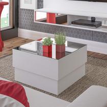 Mesa de Centro com Tampo Espelhado Parati Artely Branco -