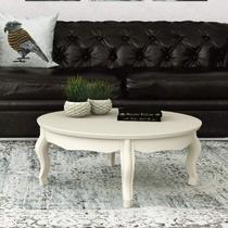 Mesa de Centro Duquesa Retrô EDN Móveis Off White -