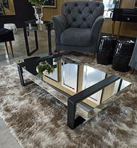 Mesa de Centro Espelhada Fenix Classic. - Demoglass