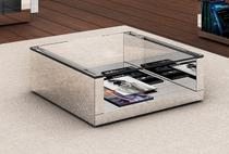 Mesa de centro espelhada INVERSE Média - Designerdecor