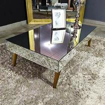 Mesa de Centro Espelhada Onix Classic. - Demoglass