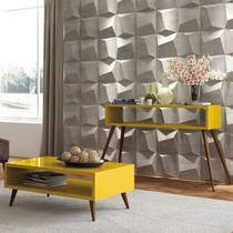 Mesa de centro Lucy com Aparador Quad - Amarelo - HB Móveis -