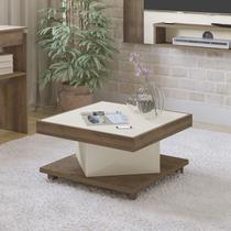 Mesa de Centro Quadrada Saara Artely Pinho/Off White -