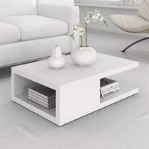 Mesa de Centro Retangular 1 Prateleira Antuérpia Siena Móveis Branco -
