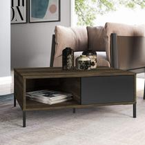 Mesa de Centro Wood Espresso Móveis Cedro/Preto -