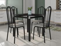 Mesa de Cozinha 4 Cadeiras Quadrada - Artefamol Flávia