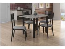 Mesa de Cozinha 4 Cadeiras Quadrada Artefamol - Perla