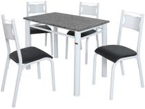 Mesa de Cozinha 4 Cadeiras Retangular Poeme - Ciplafe