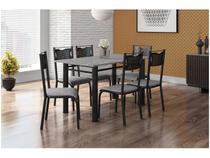 Mesa de Cozinha 6 Cadeiras Retangular Artefamol - Perla