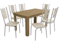 Mesa de Cozinha 6 Cadeiras Retangular Crome - Safira Kappesberg