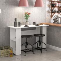 Mesa de Cozinha Lapa com 4 Nichos nas Laterais - Branco - Politorno