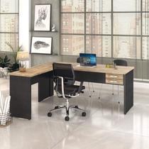 Mesa de Escritório em L 1,80x1,60m com 2 Gavetas Work30 Compace -