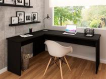 Mesa De Escritório Escrivaninha Em L 1.40x1.50 Tampo 30mm - Netmobil
