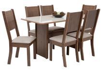 Mesa de Jantar 6 Cadeiras Retangular Indekes - Cristal