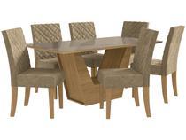 Mesa de Jantar 6 Cadeiras Retangular Kappesberg - Veneza