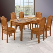 Mesa De Jantar 6 Lugares Imperial Rústico/canela - Art Panta -
