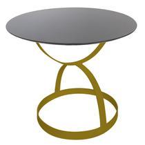 Mesa de Jantar 8 Lugares 150cm Marmore Preto Absoluto Base Metal Dourada - Allstate