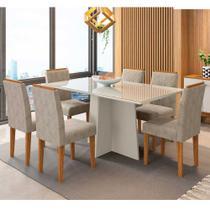 Mesa de Jantar Ana com 6 Cadeiras Amanda New Ceval -