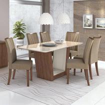 Mesa de Jantar Apogeu com 6 Cadeiras - Móveis Lopas