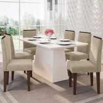 Mesa de Jantar Barbara com 6 Cadeiras Amanda Combo 1 New Ceval -
