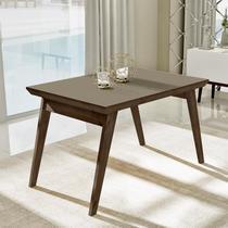 Mesa de jantar extensível com tampo de vidro nacre 1.20 - Liptus