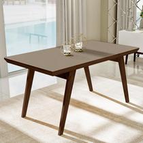 Mesa de jantar extensível com tampo de vidro nacre 1.60 - Liptus