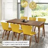 Mesa de jantar extensível primer 120cm/ 160cm - acabamento verniz poliuretano - madeira lyptus/jequi - Seiva