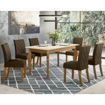 Mesa de Jantar Ghala 1,60 Com 6 Cadeiras Vita Henn -