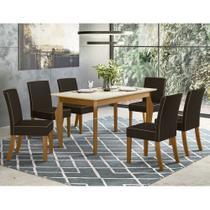 Mesa de Jantar Ghala 1600x900 com 06 Cadeiras Maris Henn -