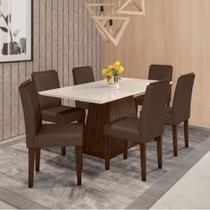 Mesa de Jantar Jasmin com 6 Cadeiras Amanda New Ceval -