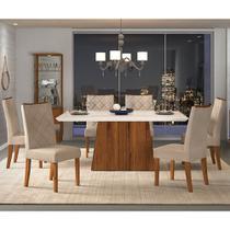 Mesa de Jantar Paris 1,70 com 6 Cadeiras Sara - Dj Móveis