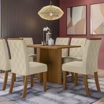 Mesa de Jantar Retangular para 6 Cadeiras 140cm Henn Nadi Nature -